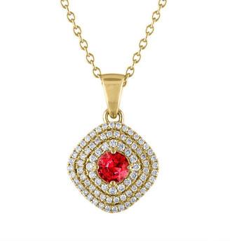 Heritage 18K 1.36 Ct. Tw. Diamond & Ruby Necklace