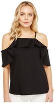 Calvin Klein Halter with Ruffle Sleeve Women's Clothing