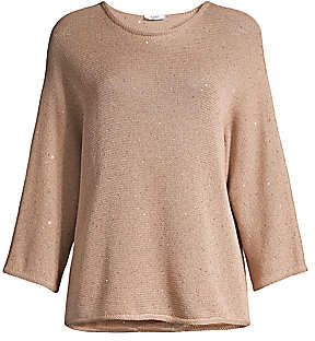 Peserico Women's Sequin Dolman-Sleeve Sweater