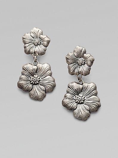 Buccellati Blossom Sterling Silver Double Drop Earrings