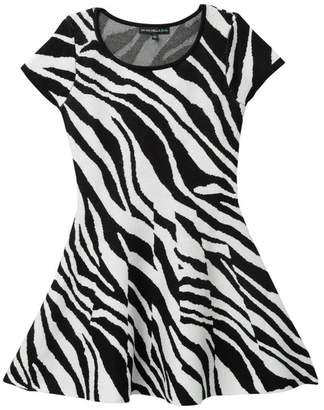 My Michelle mymichelle Zebra Sweater Dress (Big Girls)