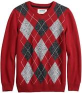 Boys 8-20 Urban Pipeline Argyle Christmas Sweater in Regular & Husky