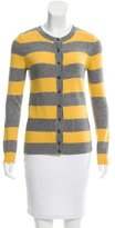 Valentino Striped Crew Neck Cardigan