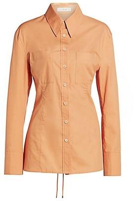 LVIR Pleasant Utility Lace-Up Poplin Shirt
