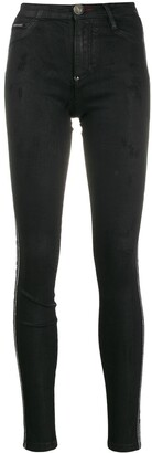 Philipp Plein Embellished Skinny Jeans