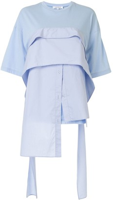 Enfold Layered Poplin Shirt