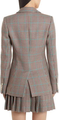 Off-White Check Slim Fit Wool Blazer