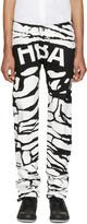 Hood by Air Black and White Peel Regular 2 Jeans