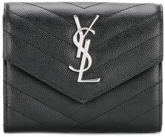 Saint Laurent Monogram flap wallet