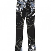 Leonard Black Silk Trousers for Women