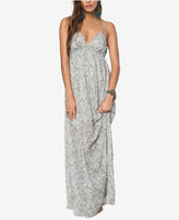 O'Neill Juniors' Deena Printed Open-Back Maxi Dress