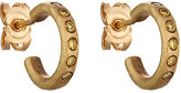 Malcolm Betts Women's Yellow Diamond Huggie Hoops