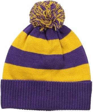 Muk Luks Men's Game Day Pom Cuff Cap-Purple One Size
