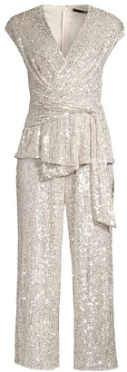 Jay Godfrey Susie Cropped Sequin Jumpsuit