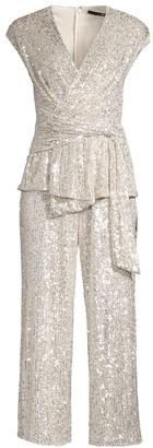 Jay Godfrey Susie Cropped Sequin Jumpsuit