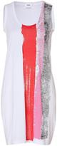 Jil Sander Cotton Dress in White/Red-Multi