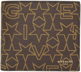Givenchy Brown Logo Stars Wallet