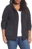 Columbia Plus Size Women's Warm Up Hooded Fleece Jacket