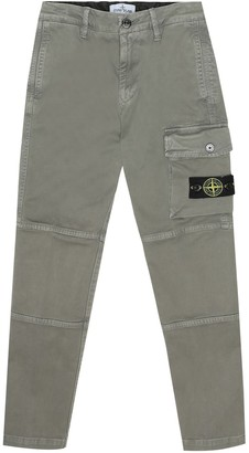 Stone Island Junior Stretch-cotton cargo pants