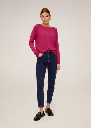 MANGO Fine-knit sweater fuchsia - S - Women