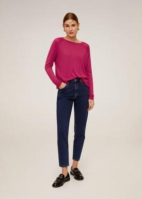 MANGO Fine-knit sweater fuchsia - XL - Women