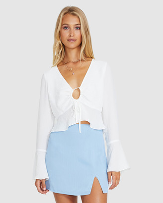 Don't Ask Amanda Ellie Flare Sleeve Draw Front Top