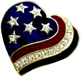 Stars & Stripes Products Patriotic Heart Brooch/pin