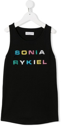 Sonia Rykiel ENFANT TEEN logo print tank top