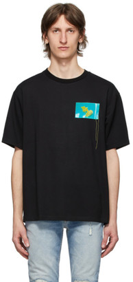 Acne Studios Black Jellyfish Patch T-Shirt