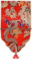 Artistic Chinese Creations Chinese Home Decor / Chinese Silk Table Runner - Dragons