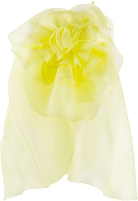 Blumarine Flower-Detail Organza Cami Top