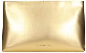 Giuseppe Zanotti Clutch In Gold Leather