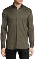 Ralph Lauren Black Label Solid Stretch Sport Shirt, Olive