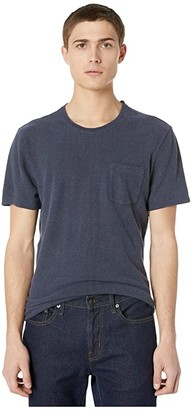 J.Crew Hemp Cotton Twist Jersey Short Sleeve Tee (Royal Indigo) Men's Clothing