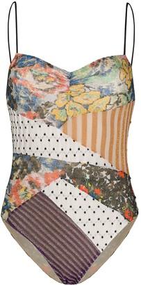 Missoni Mare Patchwork Print Swim Suit