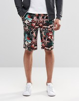 Asos Slim Short in Longer Length With Jungle Print