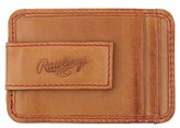 Rawlings Sports Accessories Men's Baseball Stitch Money Clip Card Case - Brown