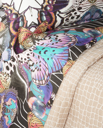 Roberto Cavalli Flying Wings Queen Fitted Sheet