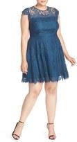 BB Dakota Plus Size Women's 'Rhianna' Lace Fit & Flare Dress