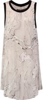 Enza Costa Tent printed voile mini dress