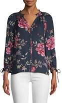 Joie Corsen Floral Silk Top