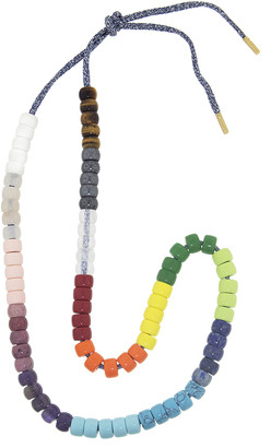 Carolina Bucci FORTE Beads Rainbow Gunmetal Necklace Kit - Yellow Gold