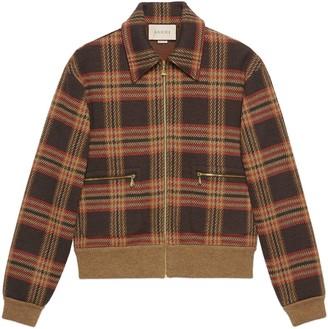 Gucci Check wool zip-up jacket