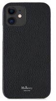 Thumbnail for your product : Mulberry iPhone 12 Case Black Small Classic Grain