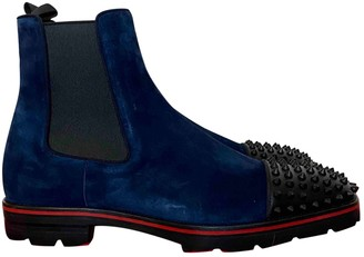 Christian Louboutin Blue Suede Boots