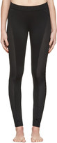 Versace Underwear Black Perforated Leggings