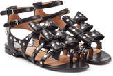 Laurence Dacade Embellished Leather Sandals with Bows