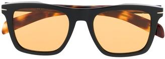 David Beckham Square Frame Tortoise-Shell Sunglasses