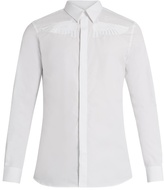 Givenchy Wing-embroidered button-cuff cotton shirt