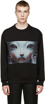 Juun.J Black Graphic Sweatshirt